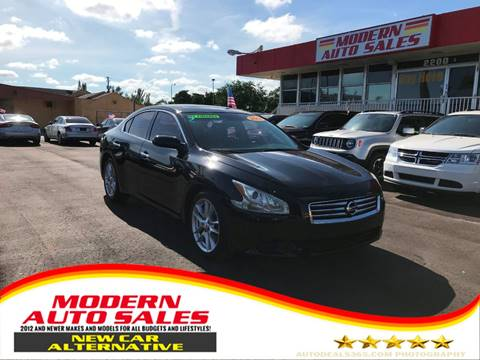 2014 Nissan Maxima for sale at Modern Auto Sales in Hollywood FL