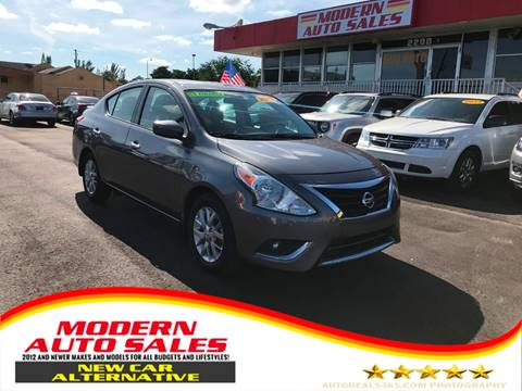 2017 Nissan Versa for sale at Modern Auto Sales in Hollywood FL