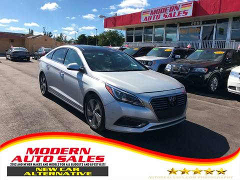 2016 Hyundai Sonata Hybrid for sale at Modern Auto Sales in Hollywood FL