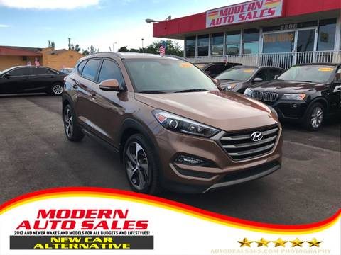 2016 Hyundai Tucson for sale at Modern Auto Sales in Hollywood FL