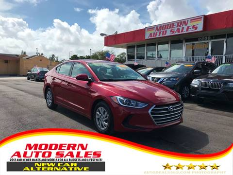 2017 Hyundai Elantra for sale at Modern Auto Sales in Hollywood FL