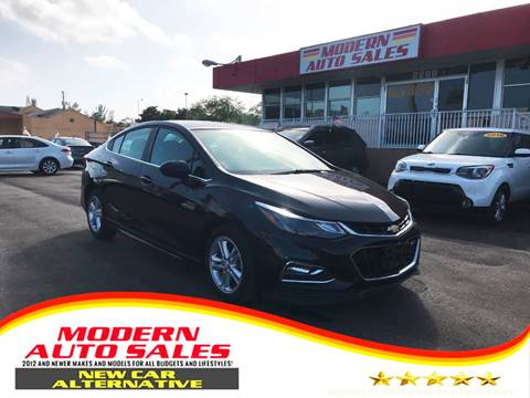2016 Chevrolet Cruze for sale at Modern Auto Sales in Hollywood FL