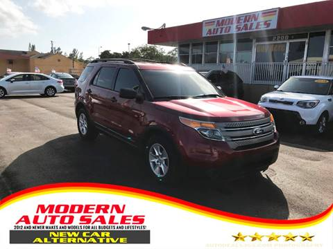 2014 Ford Explorer for sale at Modern Auto Sales in Hollywood FL