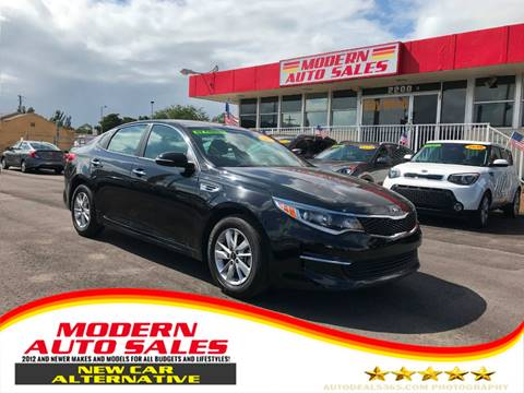2018 Kia Optima for sale at Modern Auto Sales in Hollywood FL