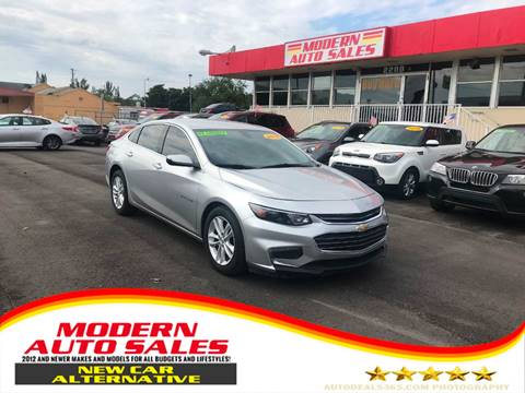 2018 Chevrolet Malibu for sale at Modern Auto Sales in Hollywood FL