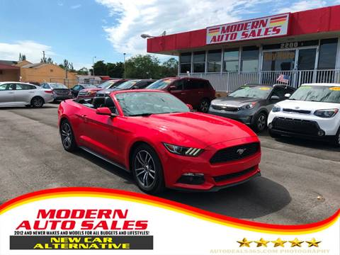2016 Ford Mustang for sale at Modern Auto Sales in Hollywood FL