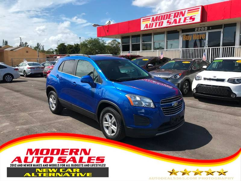 2016 Chevrolet Trax for sale at Modern Auto Sales in Hollywood FL