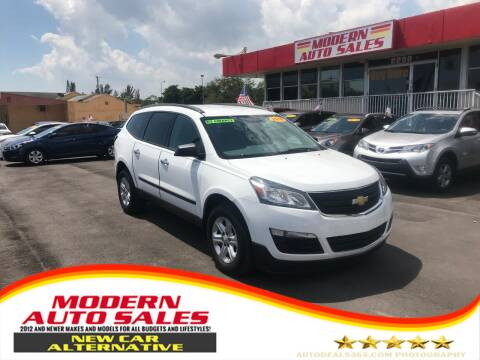 2016 Chevrolet Traverse for sale at Modern Auto Sales in Hollywood FL