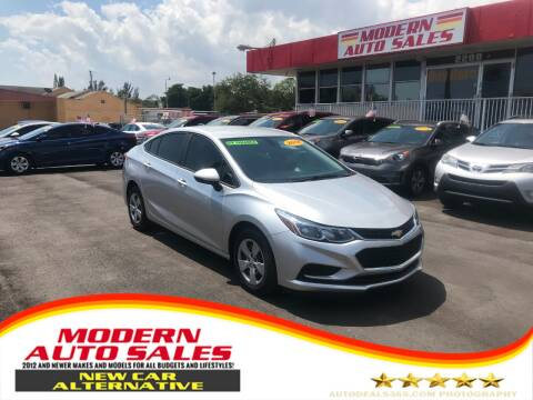 2018 Chevrolet Cruze for sale at Modern Auto Sales in Hollywood FL