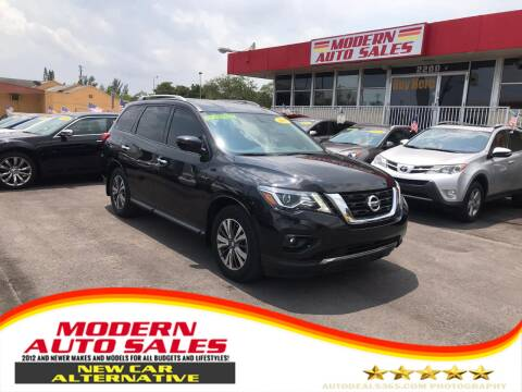 2017 Nissan Pathfinder for sale at Modern Auto Sales in Hollywood FL