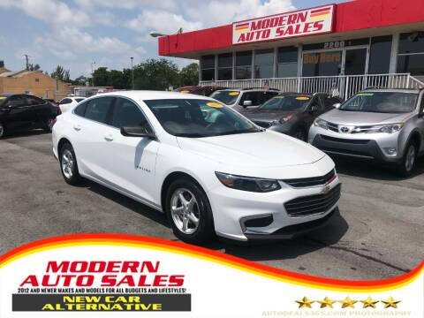 2017 Chevrolet Malibu for sale at Modern Auto Sales in Hollywood FL