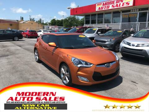 2016 Hyundai Veloster for sale at Modern Auto Sales in Hollywood FL