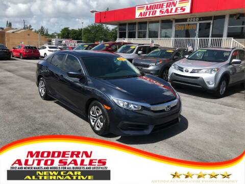 2017 Honda Civic for sale at Modern Auto Sales in Hollywood FL