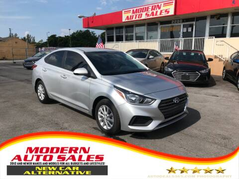 2018 Hyundai Accent for sale at Modern Auto Sales in Hollywood FL