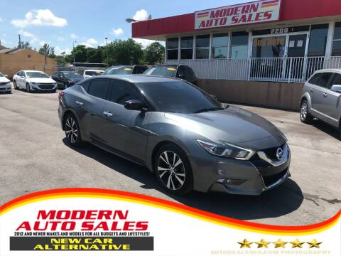 2017 Nissan Maxima for sale at Modern Auto Sales in Hollywood FL