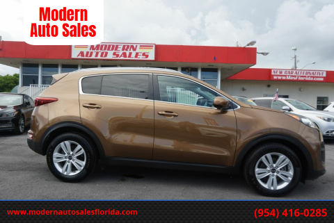 2017 Kia Sportage for sale at Modern Auto Sales in Hollywood FL