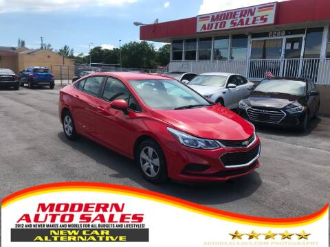 2017 Chevrolet Cruze for sale at Modern Auto Sales in Hollywood FL
