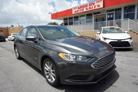 2017 Ford Fusion Hybrid for sale at Modern Auto Sales in Hollywood FL
