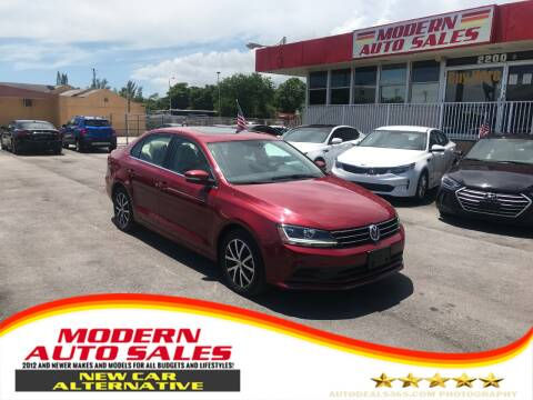 2017 Volkswagen Jetta for sale at Modern Auto Sales in Hollywood FL
