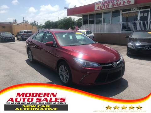 2017 Toyota Camry for sale at Modern Auto Sales in Hollywood FL