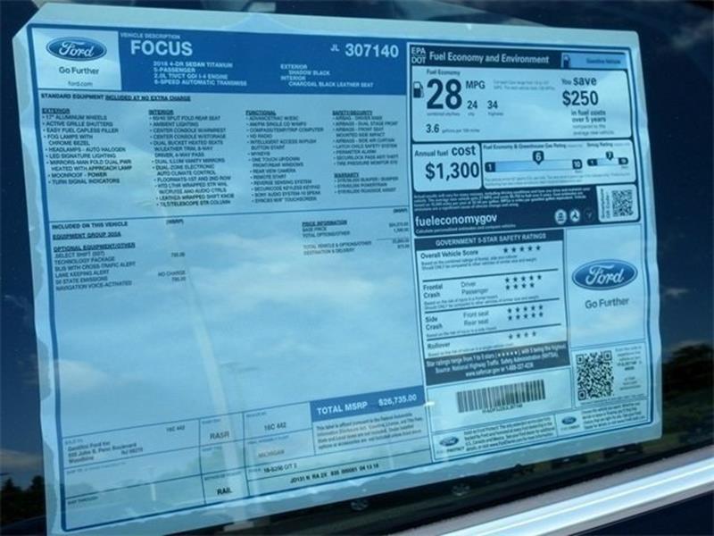 2018 Ford Focus Titanium 4dr Sedan In Woodbine NJ - Gentilini Motors