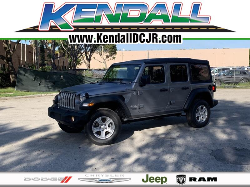 Kendall Dodge Chrysler Jeep Ram >> 2019 Jeep Wrangler Unlimited 4x4 Sport 4dr Suv In Miami Fl