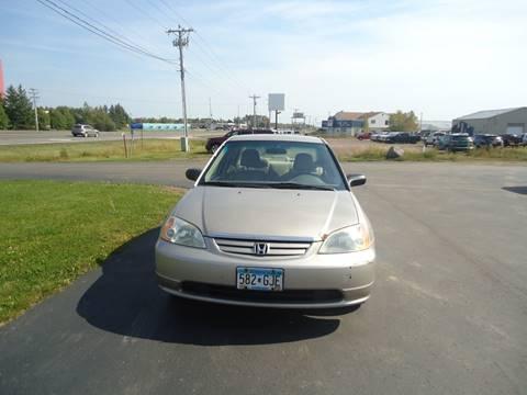 2001 Honda Civic for sale in Hermantown MN