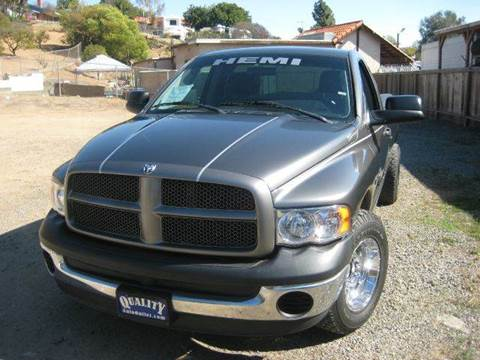 2003 Dodge Ram Pickup 2500 for sale at Quality Auto Outlet in Vista CA
