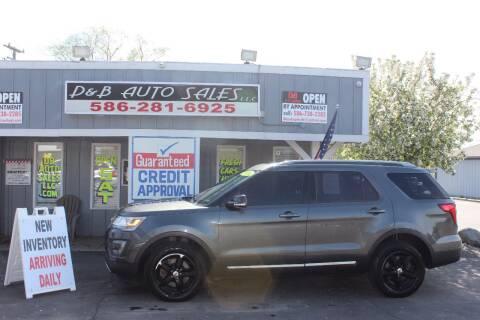 2016 Ford Explorer XLT for sale at D & B Auto Sales LLC in Washington Township MI