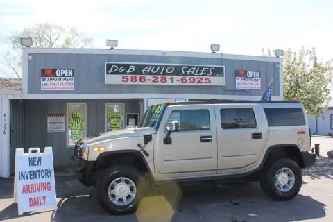 2003 HUMMER H2 Adventure Series for sale at D & B Auto Sales LLC in Washington Township MI