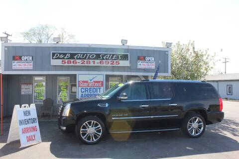 2010 Cadillac Escalade ESV for sale at D & B Auto Sales LLC in Washington Township MI