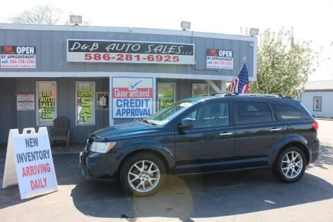 2013 Dodge Journey R/T for sale at D & B Auto Sales LLC in Washington Township MI