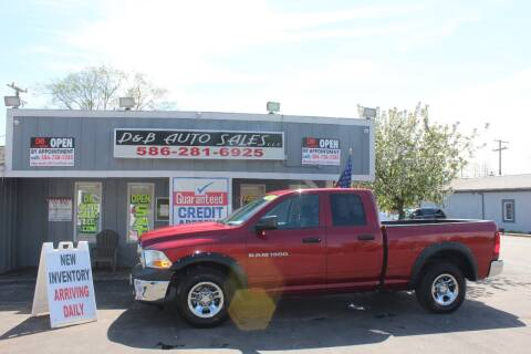 2011 RAM Ram Pickup 1500 for sale at D & B Auto Sales LLC in Washington Township MI