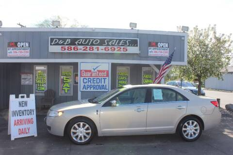 2010 Lincoln MKZ for sale at D & B Auto Sales LLC in Washington Township MI