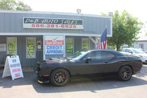 2018 Dodge Challenger for sale at D & B Auto Sales LLC in Washington Township MI