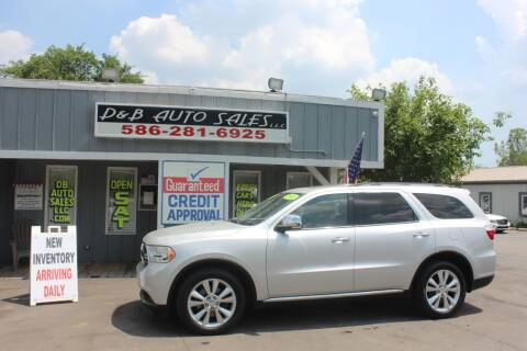 2011 Dodge Durango for sale at D & B Auto Sales LLC in Washington Township MI