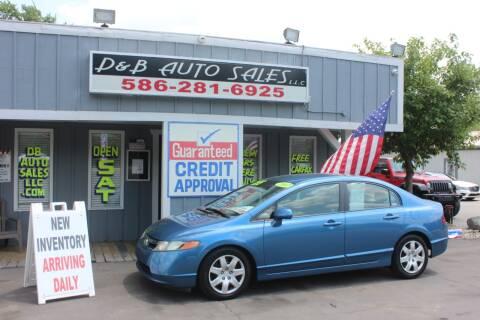 2007 Honda Civic for sale at D & B Auto Sales LLC in Washington Township MI