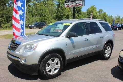 2010 GMC Acadia for sale at D & B Auto Sales LLC in Washington Township MI