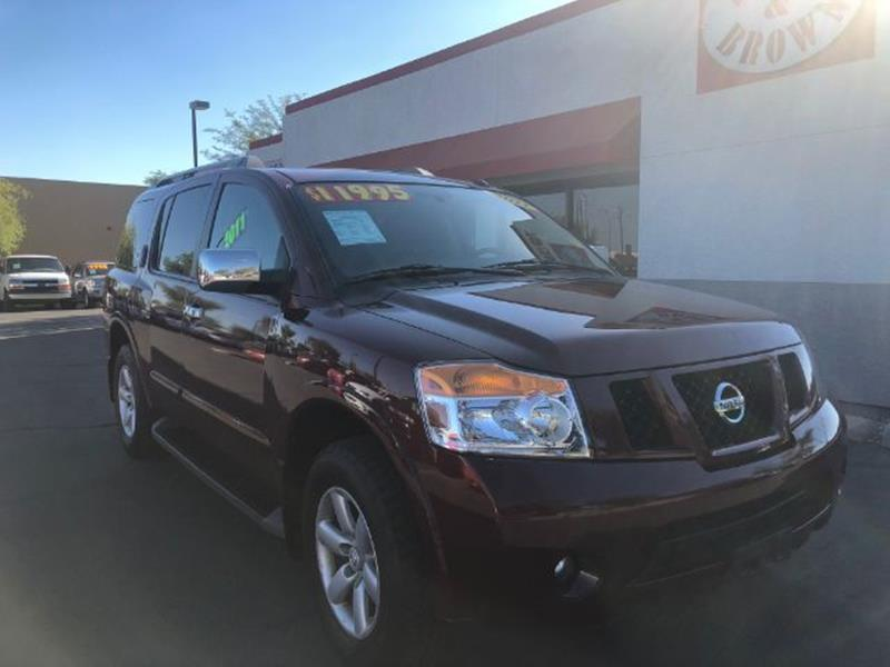 2010 Nissan Armada Se 4wd In Mesa Az Brown Brown Wholesale