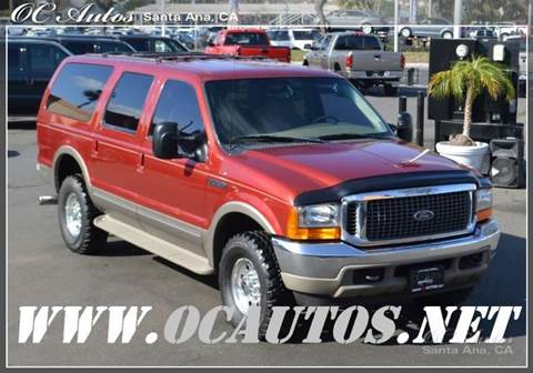 2000 Ford Excursion for sale in Santa Ana, CA