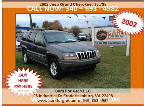 2002 Jeep Grand Cherokee for sale at Cars 4 Grab in Winchester VA