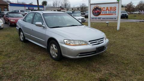 2002 Honda Accord for sale at Cars 4 Grab in Winchester VA