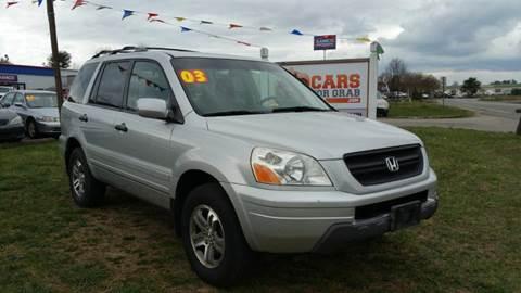 2003 Honda Pilot for sale at Cars 4 Grab in Winchester VA