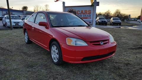 2001 Honda Civic for sale at Cars 4 Grab in Winchester VA