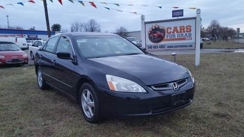 2004 Honda Accord for sale at Cars 4 Grab in Winchester VA