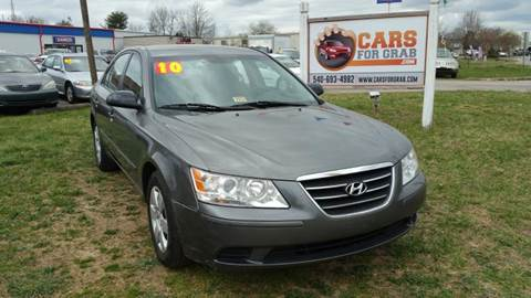 2010 Hyundai Sonata for sale at Cars 4 Grab in Winchester VA