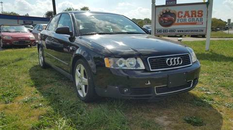 2003 Audi A4 for sale at Cars 4 Grab in Winchester VA