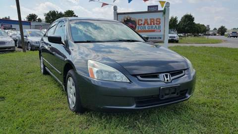 2005 Honda Accord for sale at Cars 4 Grab in Winchester VA