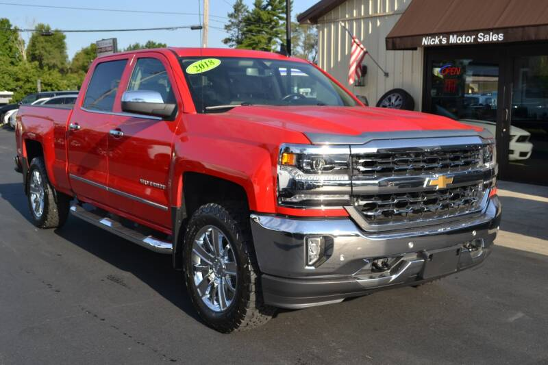 2018 Chevrolet Silverado 1500 for sale at Nick's Motor Sales LLC in Kalkaska MI