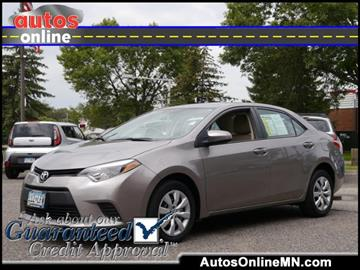 2014 Toyota Corolla for sale in Fridley, MN